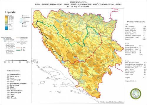 21 Karta Terenska TZ Livno Bihać Travnik TZ
